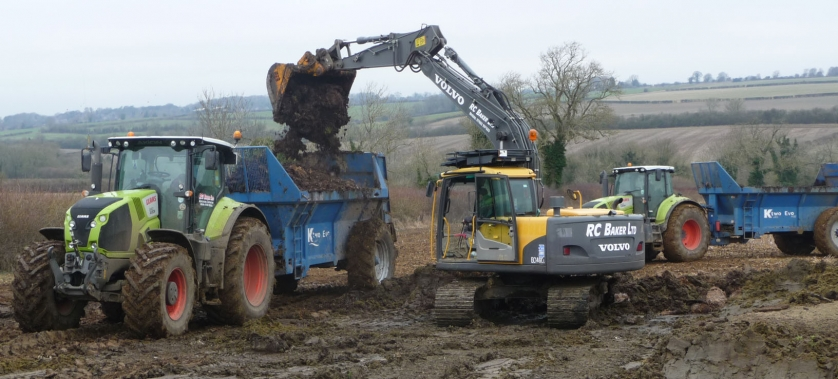 Loading the muck spreader
