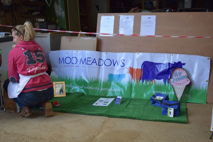 Moo Meadows stand with homemade icecream