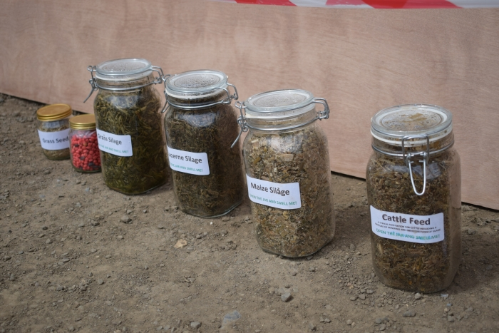 Samples of silage
