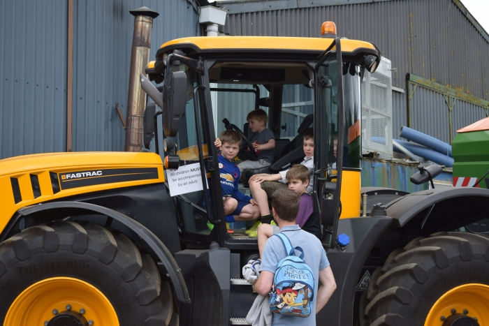 Oliver's JCB was a big hit!