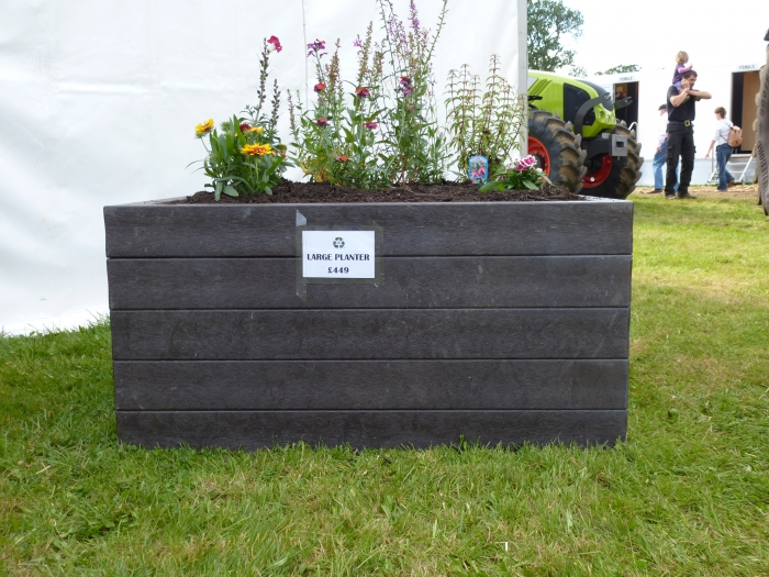 Agri.Cycle Large Planter in full bloom at Moreton Show 2012