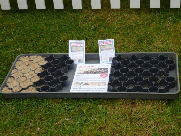 Our 100% recycled plastic ground reinforcement blocks