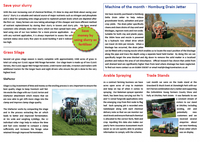 Summer Newsletter 2014 Page 2