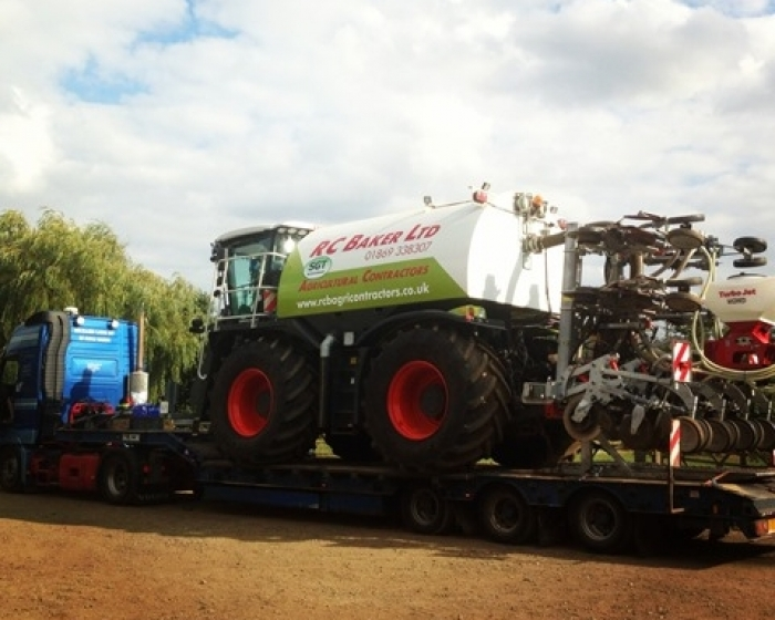 The SGT Tanker loaded up onto the lorry ready to attend an agricultural show!